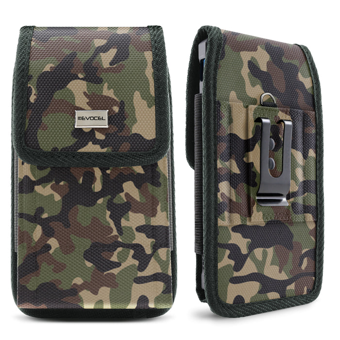 Evocel Urban Pouch Camouflage Belt Loop Case with Metal Clip