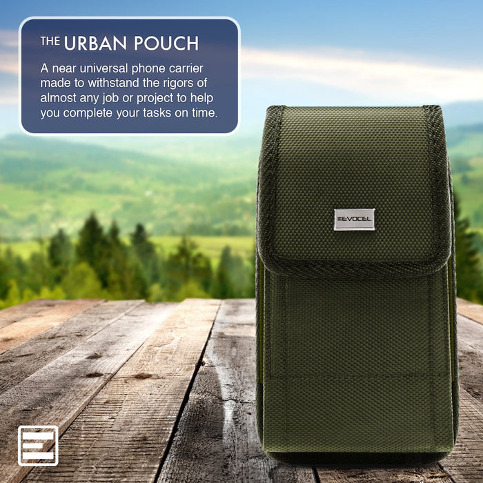 Evocel Urban Pouch Military Olive Drab Green Belt Loop Case with Metal Clip - Medium