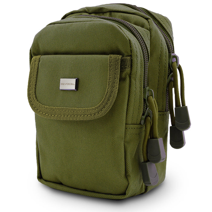 Urban Pouch Plus Universal Phone Pouch with 3-Pockets and MOLLE Straps - Olive Drab Green