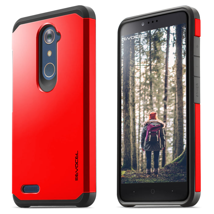 Evocel ZTE ZMAX PRO Armure Series Red Case