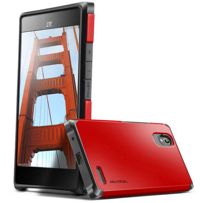Evocel ZTE Warp Elite Armure Series Red Case