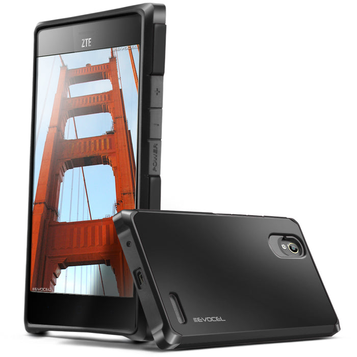 Evocel ZTE Warp Elite Armure Series Black Case