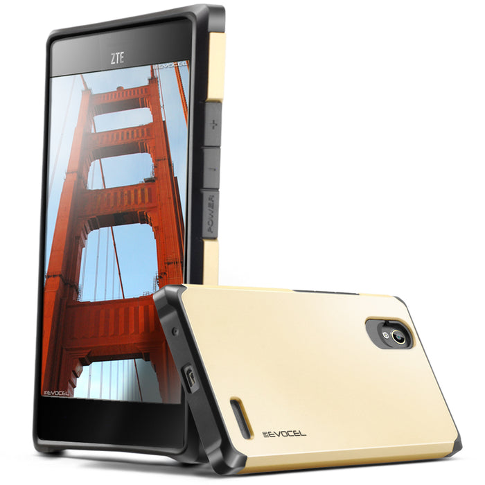 Evocel ZTE Warp Elite Armure Series Gold Case