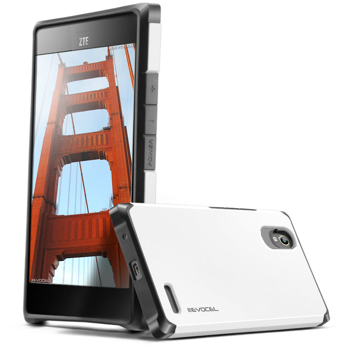 Evocel ZTE Warp Elite Armure Series White Case