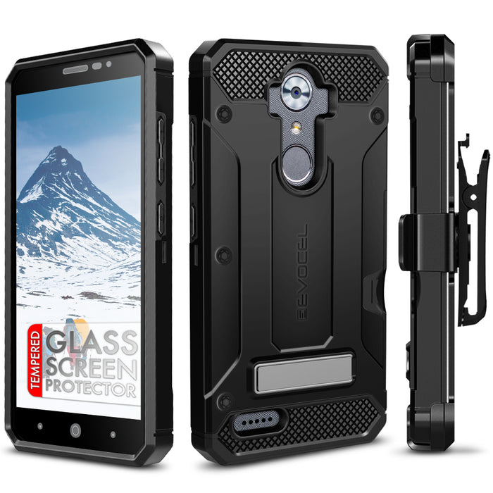 Evocel ZTE MAX XL Explorer Series Pro Black Case