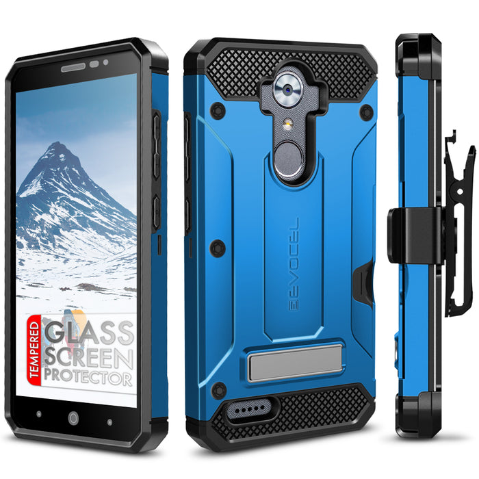 Evocel ZTE MAX XL Explorer Series Pro Blue Case
