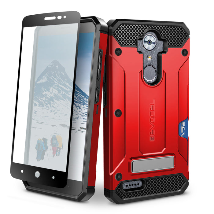 Evocel ZTE MAX XL Explorer Series Pro Red Case