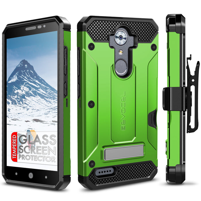 Evocel ZTE MAX XL Explorer Series Pro Green Case