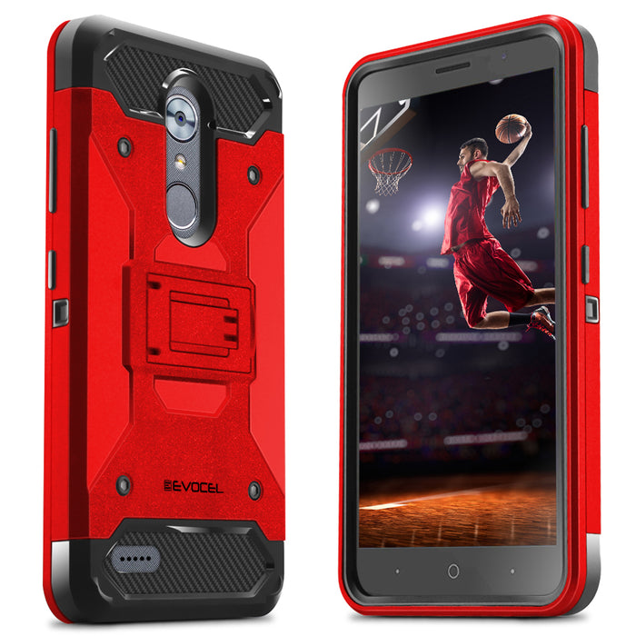 Evocel ZTE MAX XL Trio Pro Series Red Case