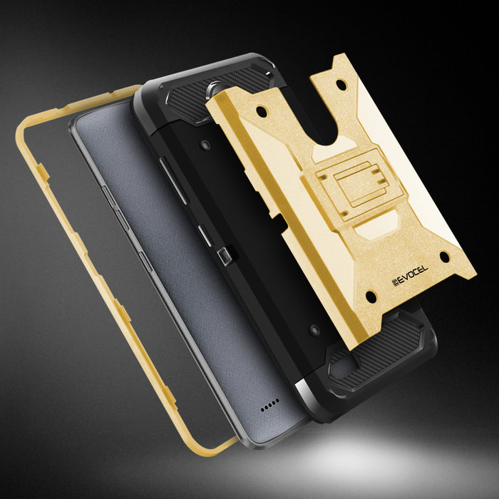Evocel ZTE MAX XL Trio Pro Series Gold Case