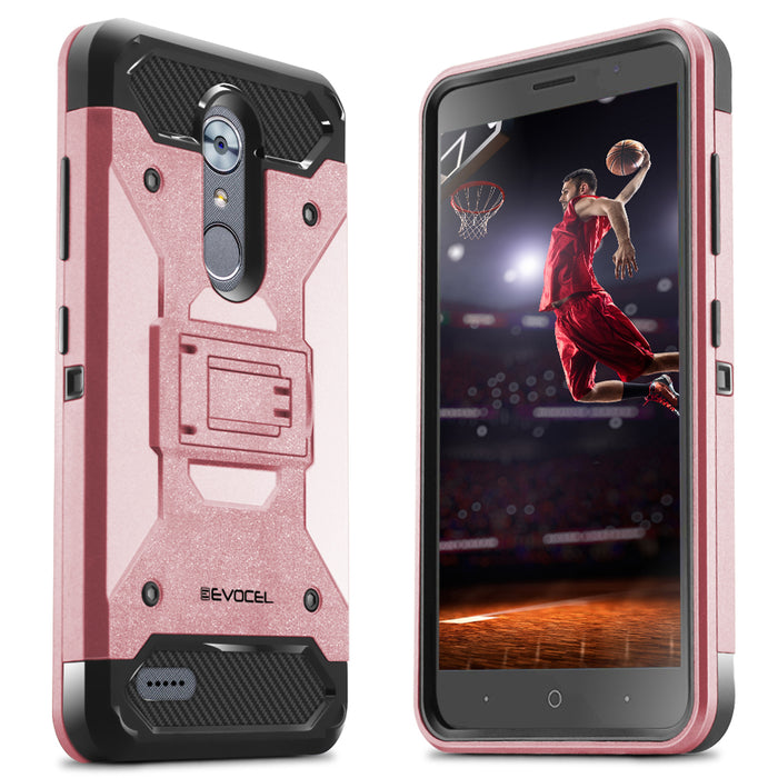 Evocel ZTE MAX XL Trio Pro Series Rose Gold Case