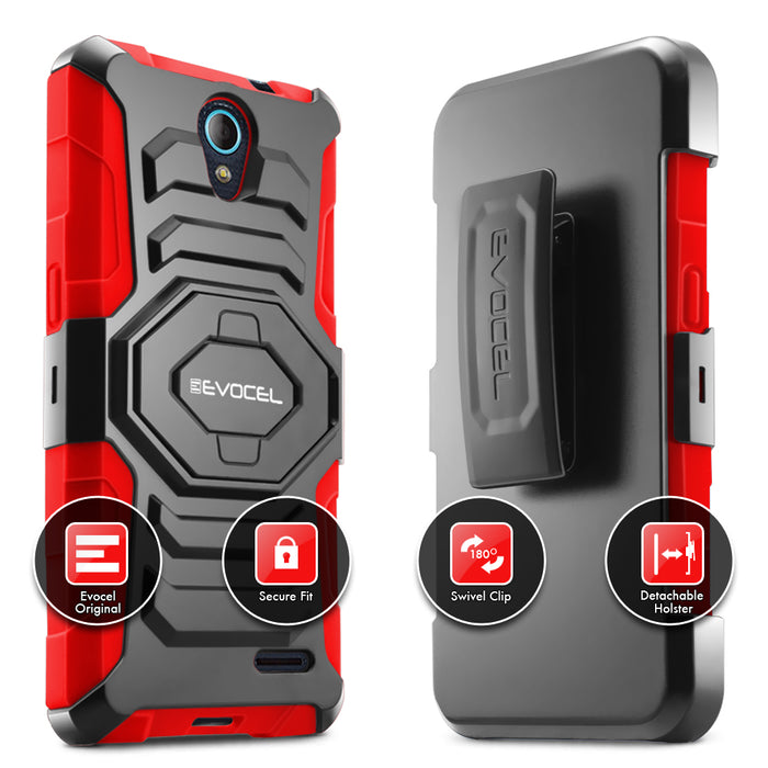 Evocel ZTE Avid Trio New Generation Series Red Case
