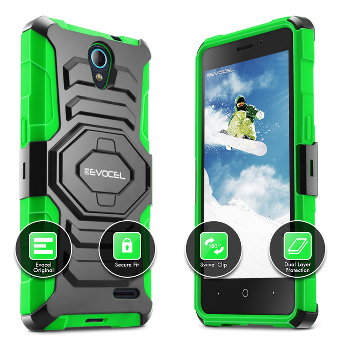 Evocel ZTE Avid Trio New Generation Series Green Case