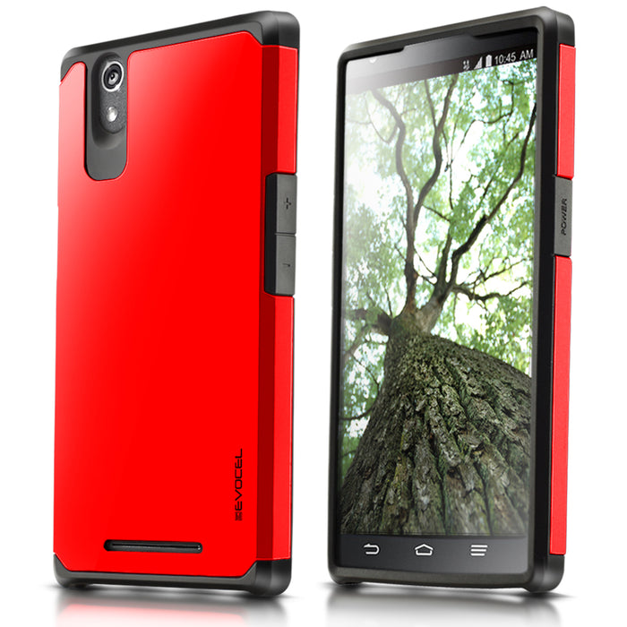 Evocel ZTE ZMAX Armure Series Red Case