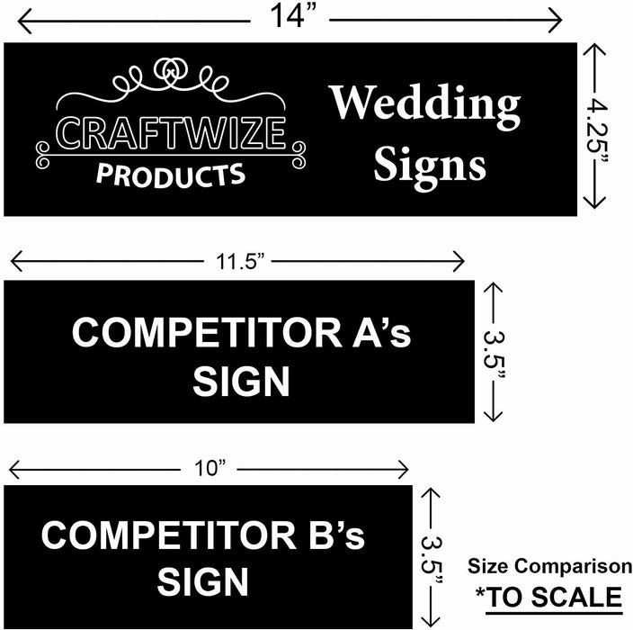 Mr & Mrs Sign - BLACK (Gift Box Included), Established 2020 - Wedding Decoration