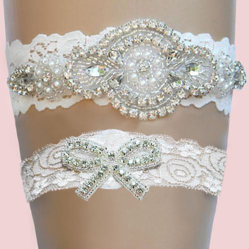 Lace Garter with Flowers