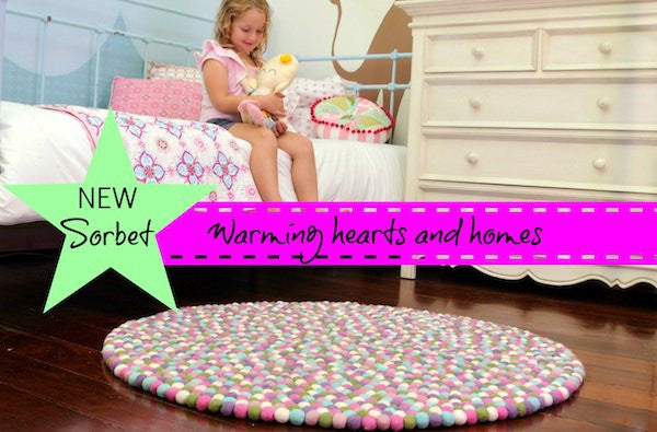 Sorbet delight in girls bedrooms rugs