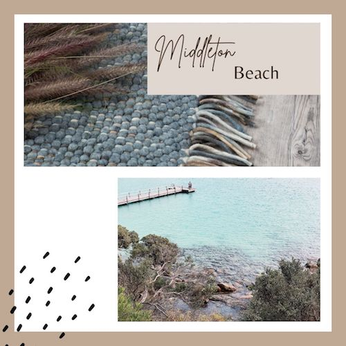The Middleton Wool Rug inspired by my sea change to the Great Southern