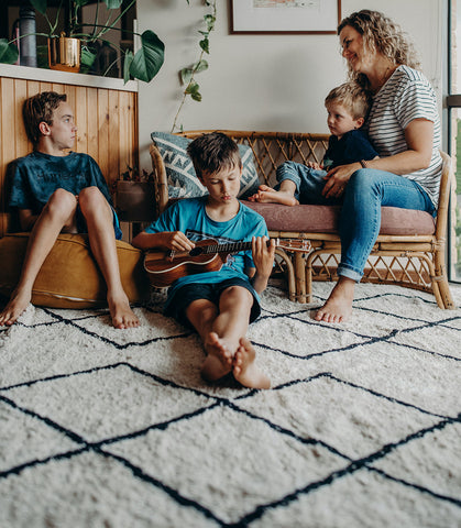 Cotton Berber Washable Rug for Families