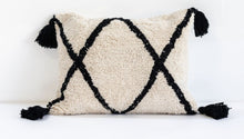 Close Up of rectangular Cotton Berber Washable Cushion Monochrome