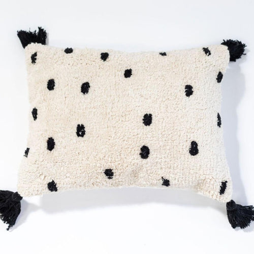 Going Dotty Black Washable Cushion by Oh Happy Home