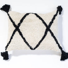 Cotton Berber Washable Cushion - Black