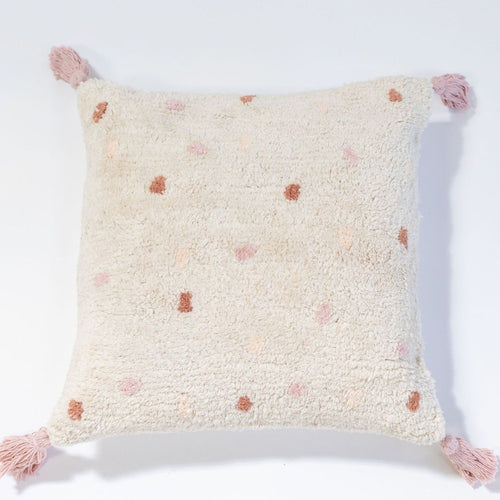 Washable cushion cotton berber pink and toffee by OHH