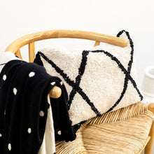 Washable monochrome cotton berber cushion by Oh Happy Home
