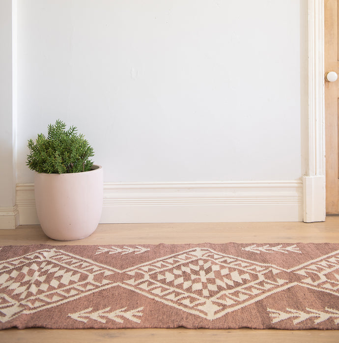 Adilah - Cherry Rust Wool Hallway Runner