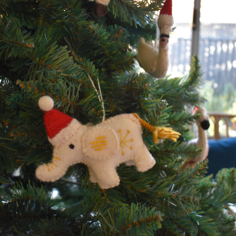 Christmas Decorations.Elephant Christmas Decorations X 2