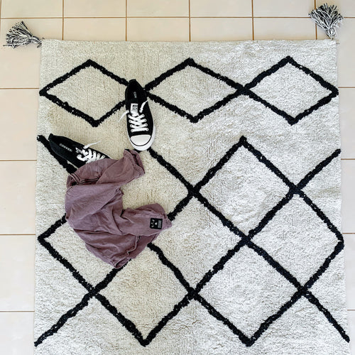 NEW Cotton Berber Runners - Cotton Berber Black Runner