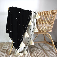 Organic Cotton Throw - Black and White Dotty