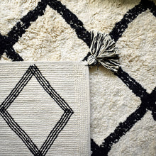 Cotton Berber Rugs - Black - Happy as Larry