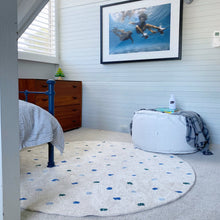 Dotty Blue Rug for Boys