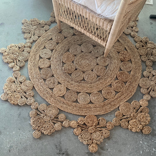 Jute Daisy Rug - Happy as Larry