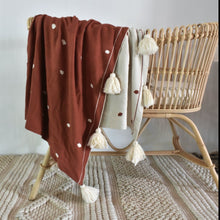 NEW Terracotta Dotty Organic Cotton Throw