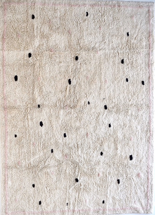 Cotton Berber Rugs - Going Dotty Pink - Happy as Larry