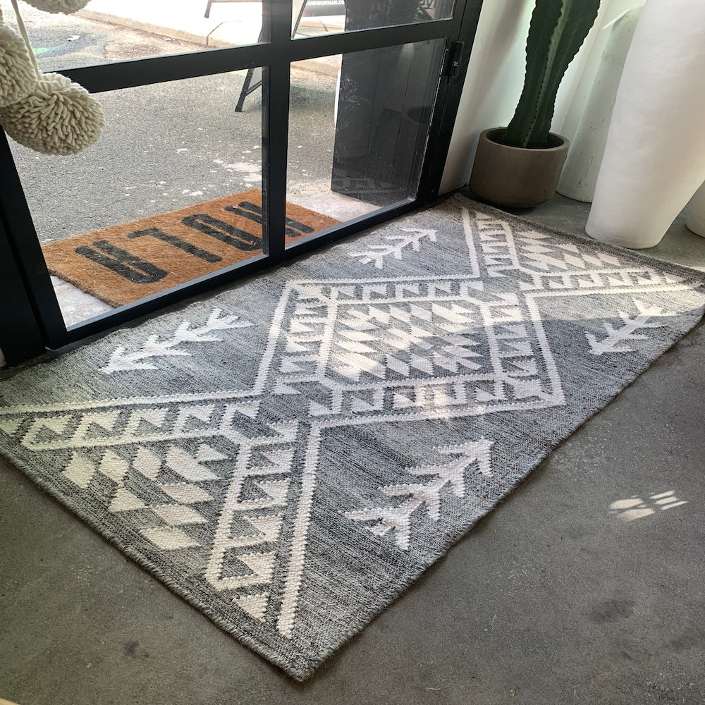 Turchia Grey Wool Door Mat