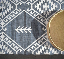 Mari - Blue Wool Rug