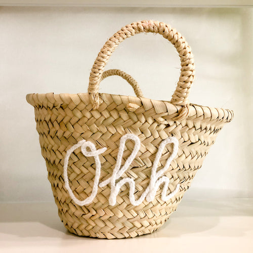 Straw Moroccan Basket Ohh