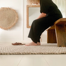 Natural Braid Wool Rug - Happy as Larry