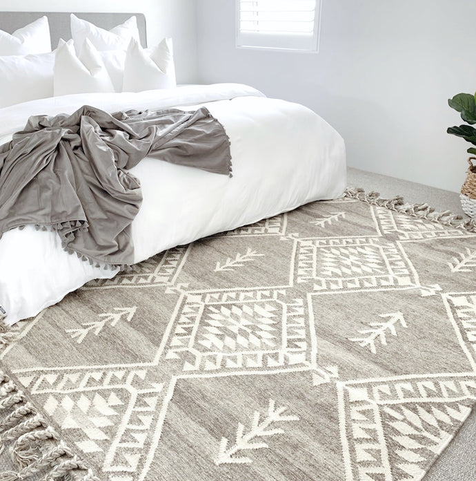 Turchia- Taupe Wool Rug - Happy as Larry