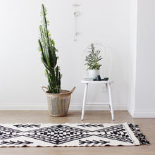 Maleek -  Monochrome Wool Rug - Happy as Larry
