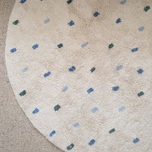 Blue Dotty Cotton Rug