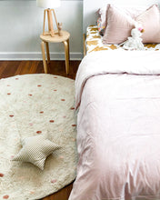 Girls bedroom featuring Oh Happy Home Going Dotty Pink and Toffee Dotted rug