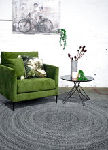 Round Braided Rug Midnight