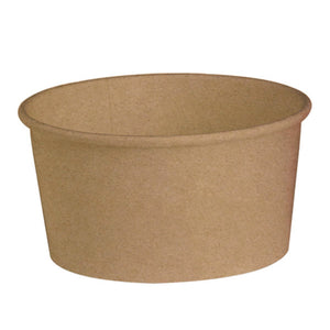 "Round Kraft Salad Bucket - 53oz Dia: 7.3"" H: 3.2"""
