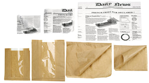 White Greaseproof Paper Newspaper Print - 10.6 x 13.8""