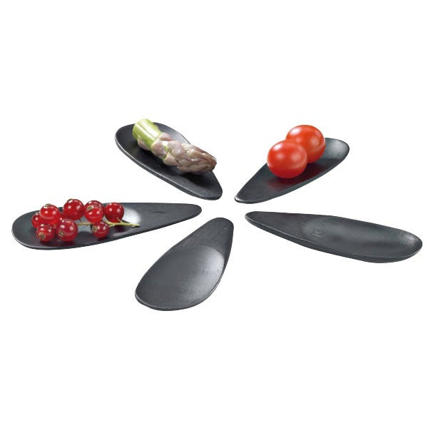 MAHAL Black Bamboo Tear Shaped Tasting Spoon