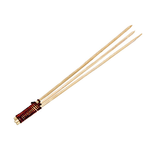 Bamboo Skewer 3 Prong with Tied End